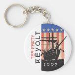 Tea Party Revolt 2009 Basic Round Button Keychain
