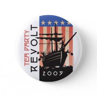 Tea Party Revolt 2009 button