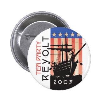 Tea Party Revolt 2009 Pinback Button