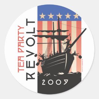 Tea Party Revolt 2009 Classic Round Sticker