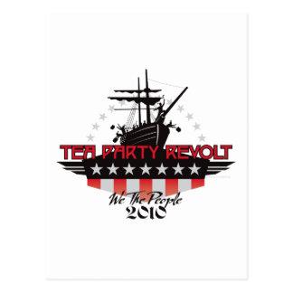 Tea Party Revolt 2010 Postcard