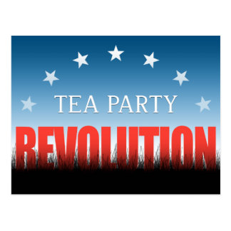 Tea Party Revolution Postcard