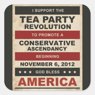 Tea Party Revolution Square Stickers