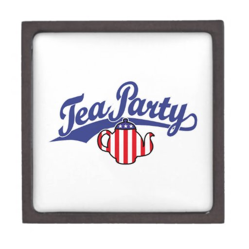 Tea Party Script Logo Premium Jewelry Box