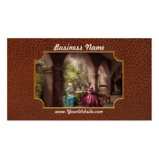 Tea Party - Sharing tea with Grandma 1936 Double-Sided Standard Business Cards (Pack Of 100)