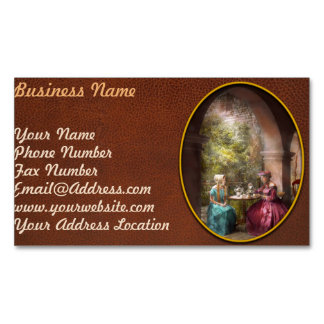 Tea Party - Sharing tea with Grandma 1936 Magnetic Business Cards (Pack Of 25)