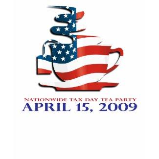 Tea Party Shirt - Flag Cup - Womens shirt
