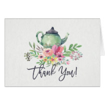 Tea Party Shower Thank You Note