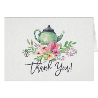 Tea Party Shower Thank You Note Card