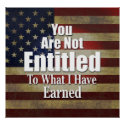 Tea Party sign / poster: You Are Not ENTITLED print
