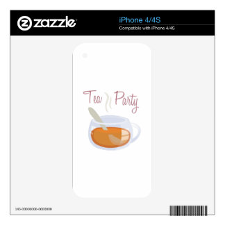 Tea Party Skin For iPhone 4