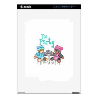 TEA PARTY DECAL FOR iPad 3