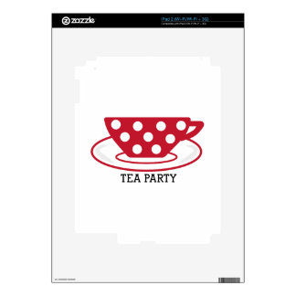 Tea Party Decal For The iPad 2