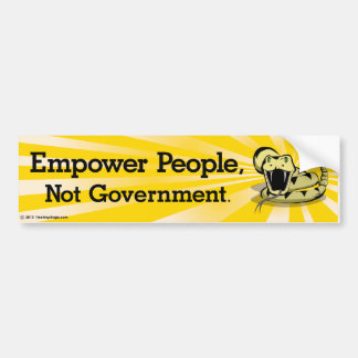 Tea Party Snake - Empower Bumper Stickers