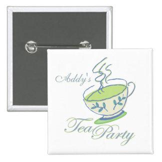 Tea Party  Square Button