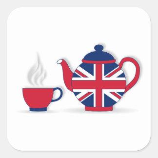 Tea Party Square Sticker