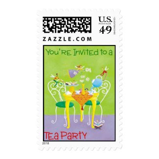 tea party stamp