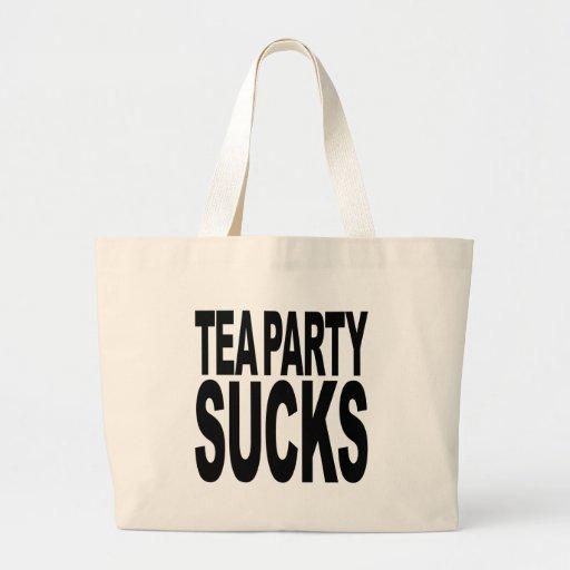 Tea Party Sucks Jumbo Tote Bag