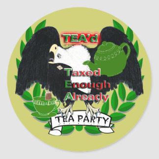 TEA Party Supplies Classic Round Sticker