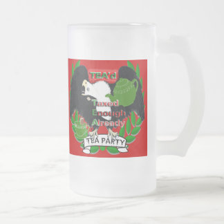 TEA Party Supplies Frosted Glass Beer Mug