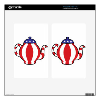 Tea Party Symbol 3D look Decals For Kindle Fire