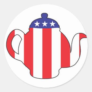 Tea Party symbol Round Sticker