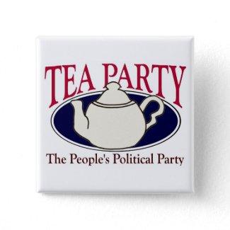 Tea Party Tax Day button button