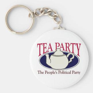 Tea Party Tax Day keychain