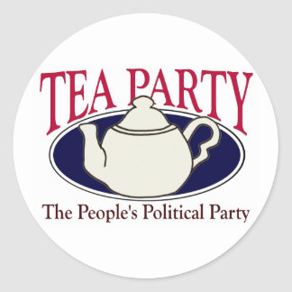 Tea Party Tax Day sticker