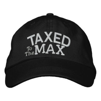 Tea Party Taxed to the MAX by SRF Embroidered Baseball Cap