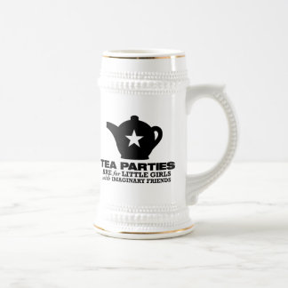 tea party - tea parties are for little girls beer stein