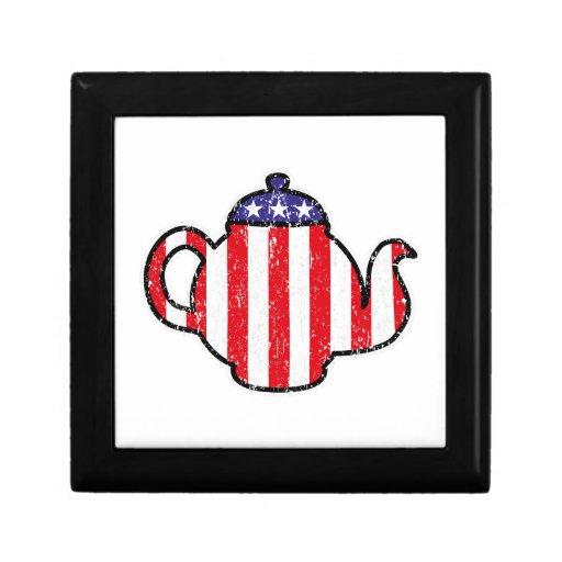 Tea Party Teapot Distressed Logo Gift Box