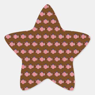Tea Party Teapot Pattern Star Sticker