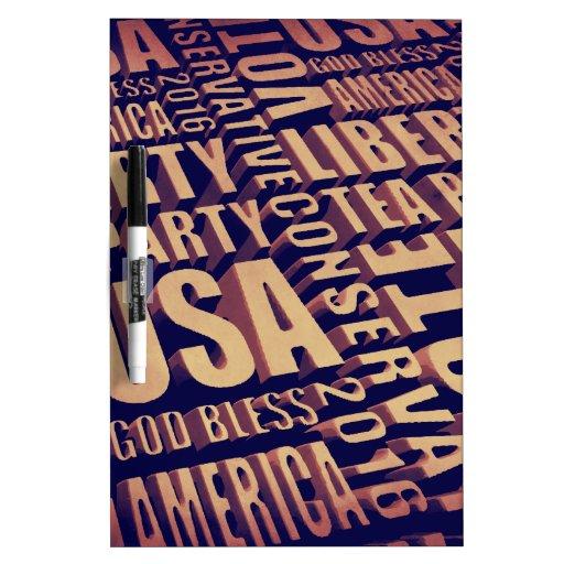 Tea Party Text Dry-Erase Whiteboards