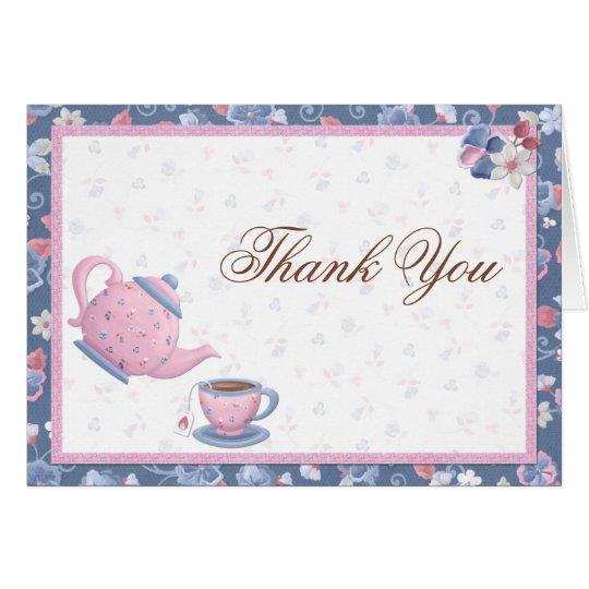 Tea Party Thank You Card