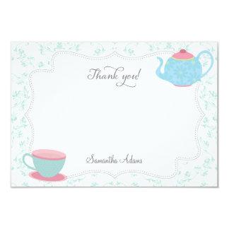 Tea Party Thank You Card (Blue)