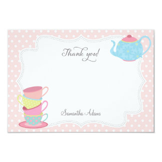 Tea Party Thank You Card (Pink)