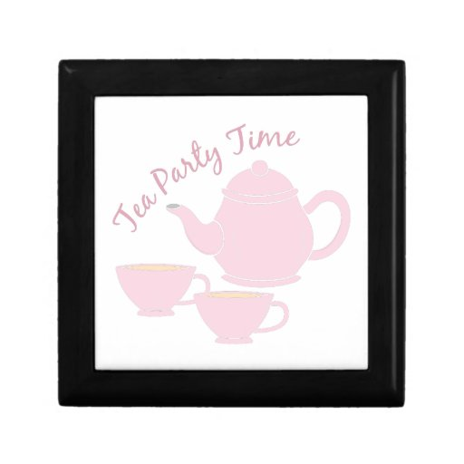 Tea Party Time Jewelry Box