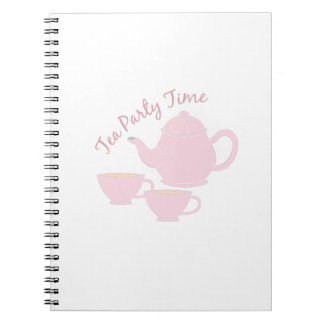 Tea Party Time Spiral Note Book