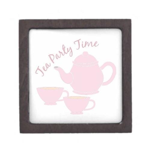 Tea Party Time Premium Trinket Boxes