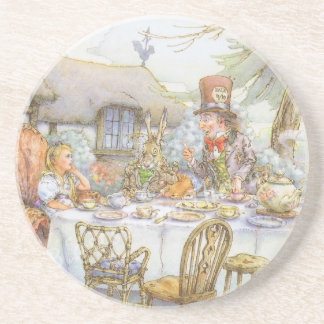 Tea Party Time Sandstone Coaster