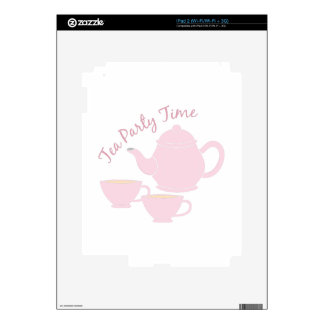 Tea Party Time Decals For The iPad 2