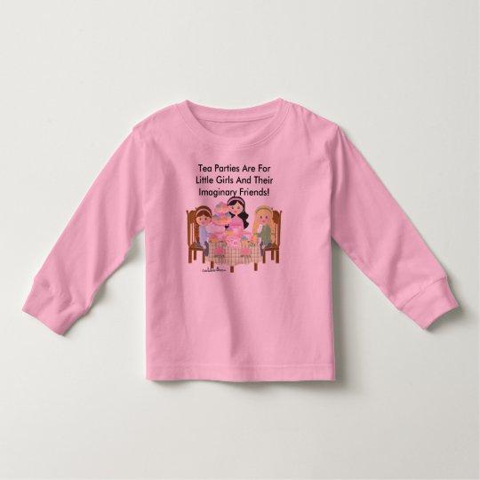 Tea Party Toddler Long Sleeve Toddler T-shirt