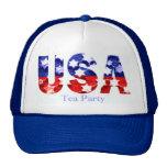Tea Party USA Flag Cap Trucker Hats