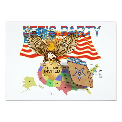 """Tea-Party-Version-1 Invitación 5"""" X 7"""""""