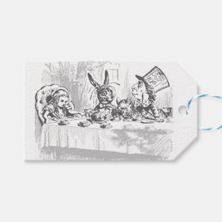 Tea Party Vintage Alice in Wonderland Gift Tags