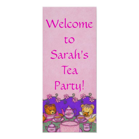 Tea Party Welcome Sign / Poster ~ Personalize