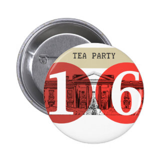 Tea Party White House 2016 Pinback Buttons