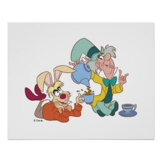 Tea Party with the Mad Hatter Disney Poster