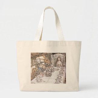 Tea Party with the Mad Hatter Large Tote Bag